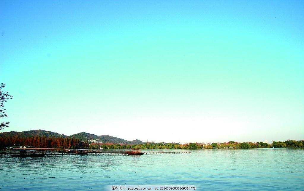 西湖 曲院风荷 苏堤 早晨 西湖风景 西湖风光 杭州西湖 湖光山色