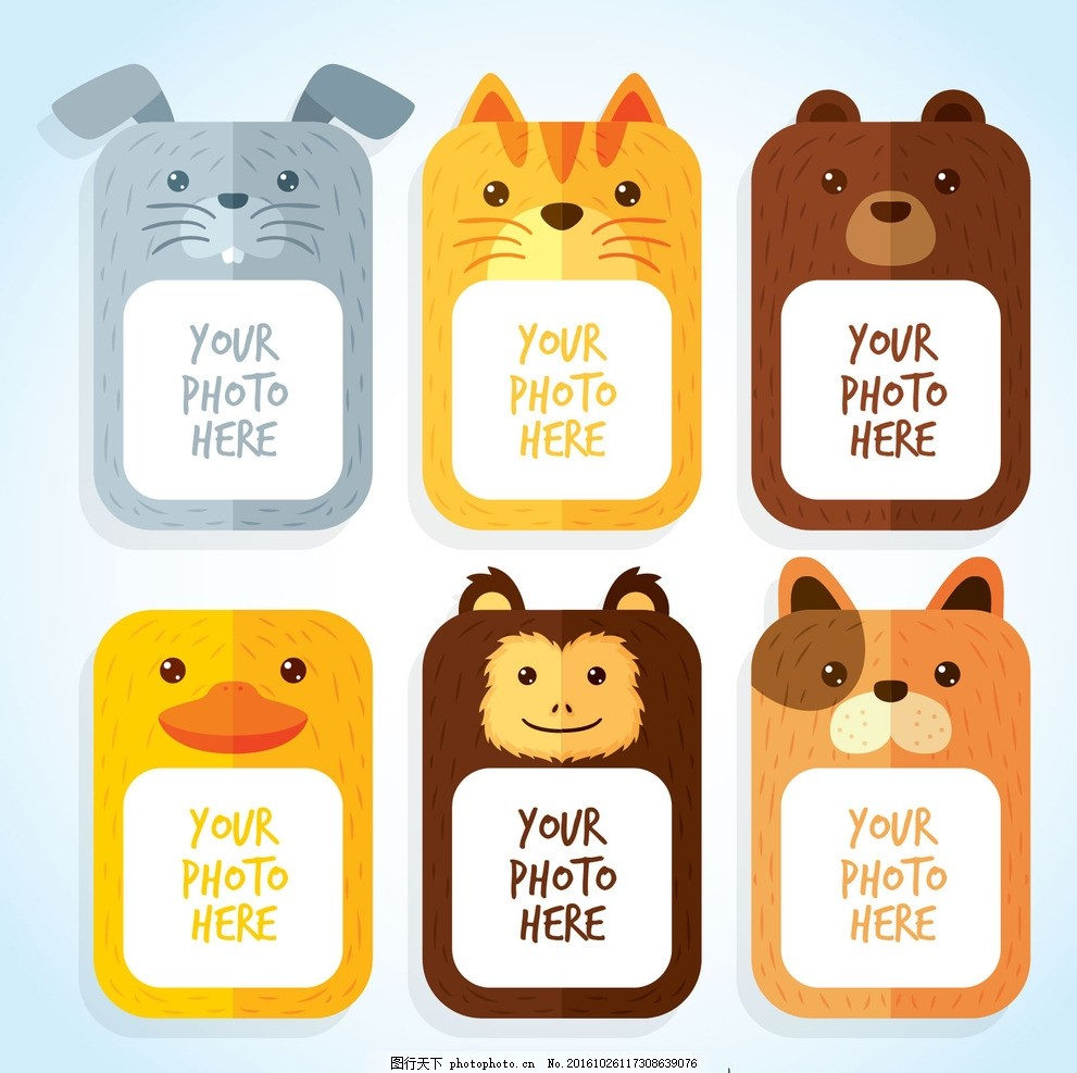 动物相框 画框 狗 框架 自然 猫 动物 照片 相框 平板 猴子 可爱 熊