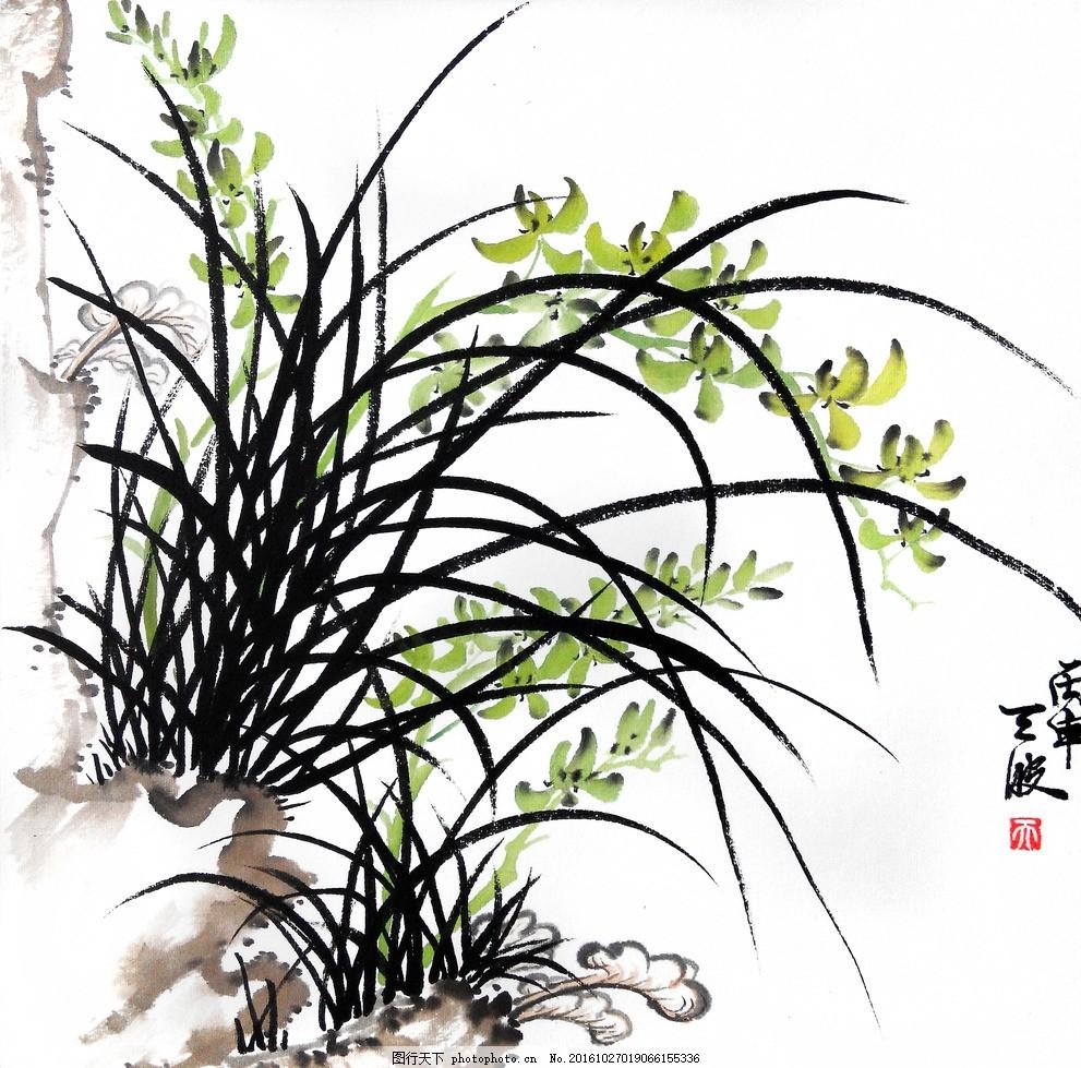潘天波兰花 现代水墨画 画家作品 国画 国画 设计 文化艺术 绘画书法