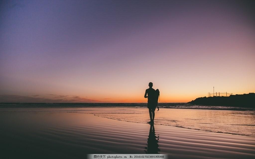人和风景图片背影