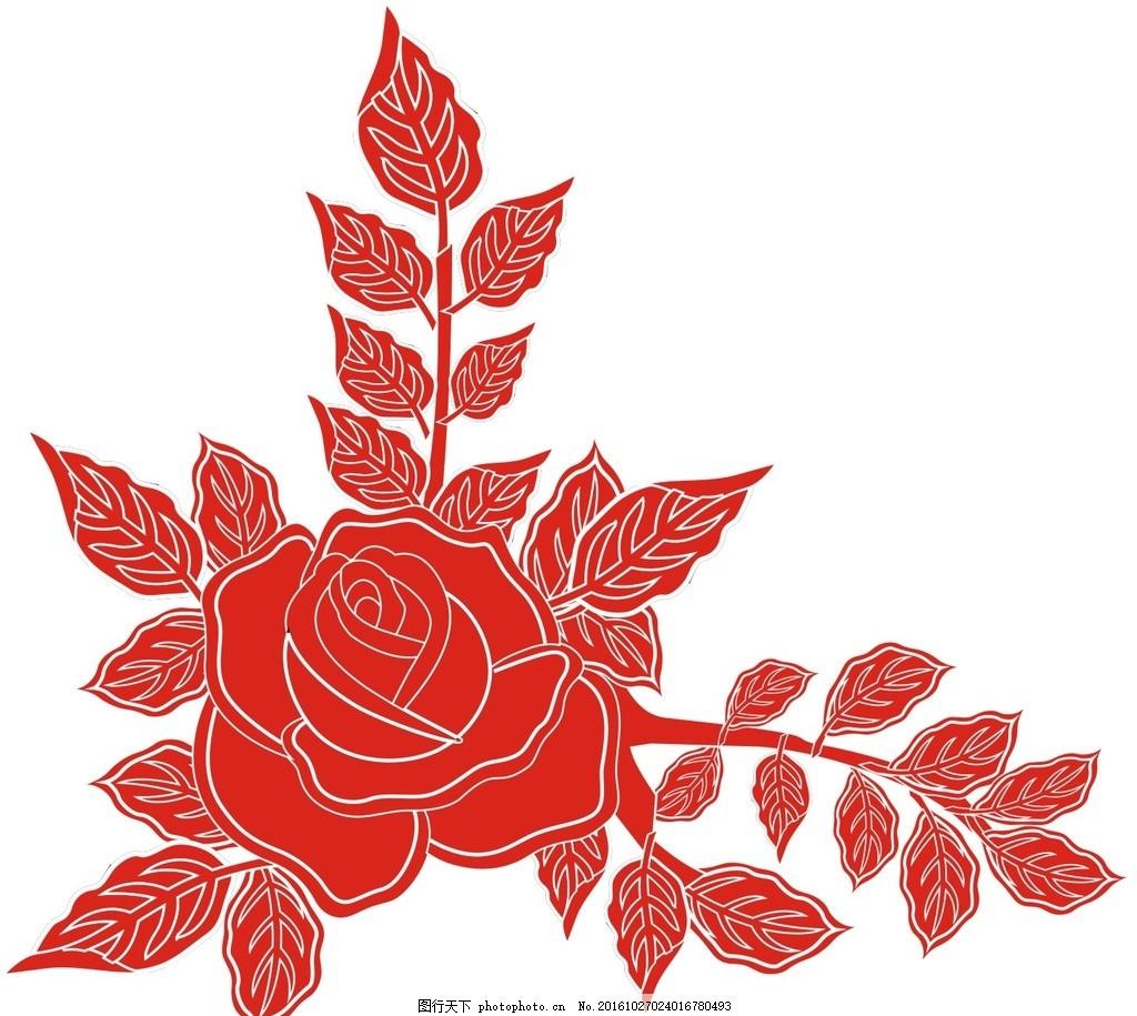 花卉 玫瑰花 月季花 牡丹花 矢量 花 花朵 图案 设计 自然景观 自然