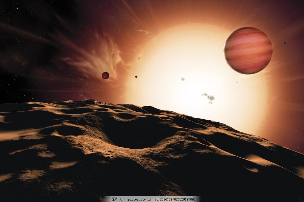月球 宇宙 太阳 星球 陨石
