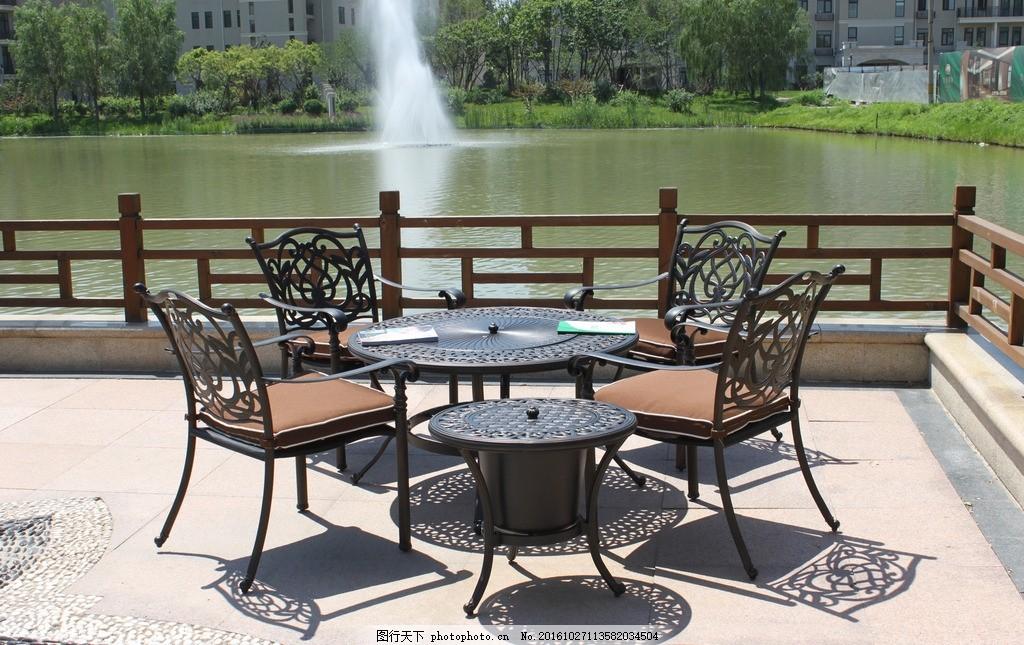 馨宁居别墅庭院铸铝烧烤桌椅