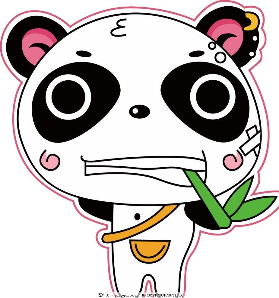 熊猫 动物 卡通 宝宝 生物 机械 朋克 可爱 动漫动画