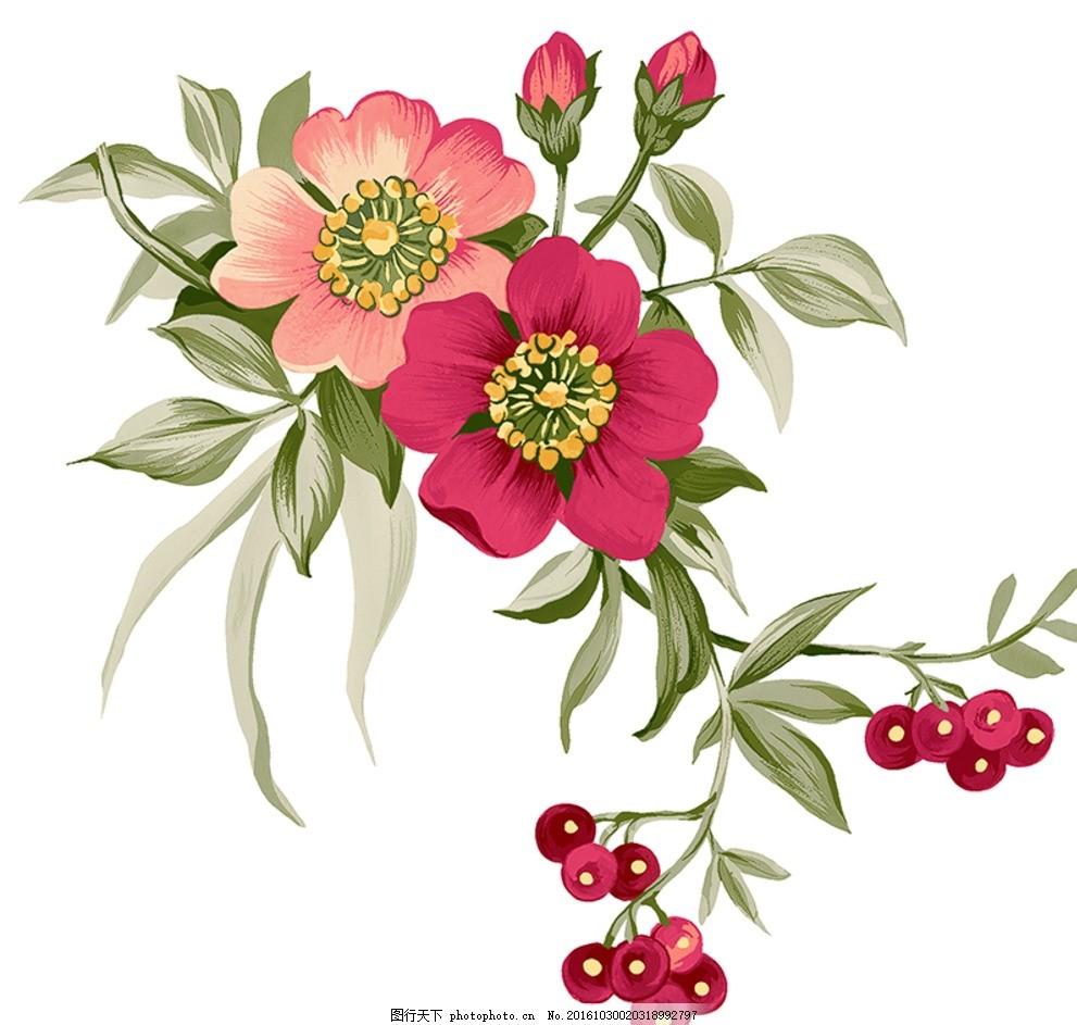 手绘玫瑰 手绘玫瑰花 玫瑰 玫瑰花 红玫瑰 手绘牡丹 牡丹 陶瓷花纸