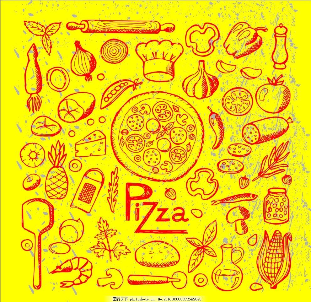 快餐店壁纸 手绘壁画 装饰背景 美食壁纸 美食装饰画 小清新壁纸 食物