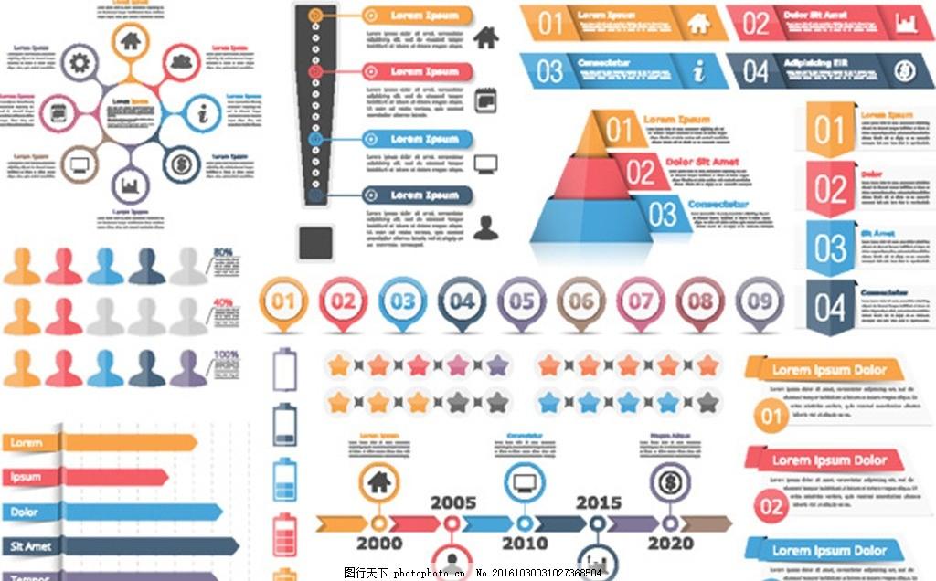 标签 商业图表 手绘 ppt 幻灯片 ppt素材元素 功能区标签 统计图表