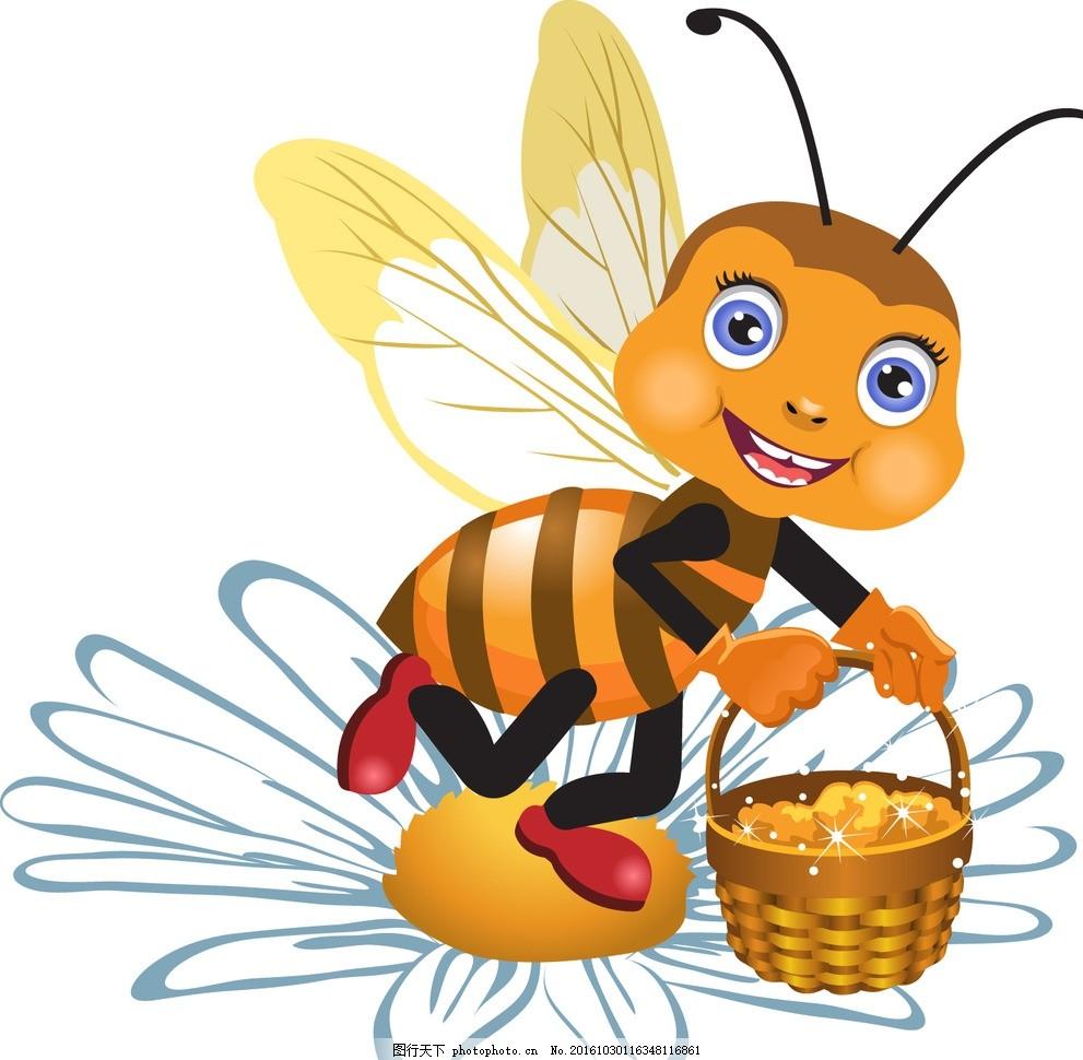 蜜蜂 动物 卡通 宝宝 生物 可爱 虫子 设计 动漫动画 动漫人物 eps