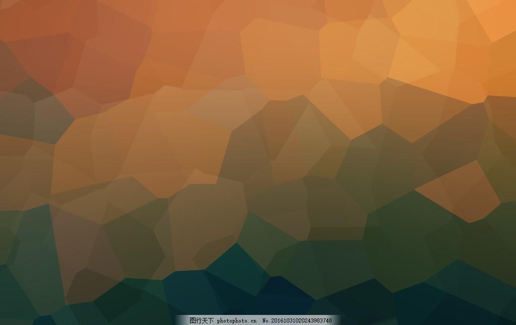 淡黄色几何多边形背景高清 深色背景 时尚背景 质感背景 立体背景