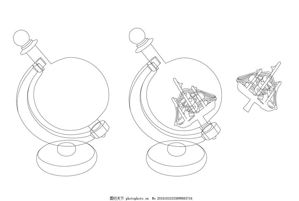 玻璃酒球的简笔画 船 装酒的容器 玻璃酒瓶 图片素材图片