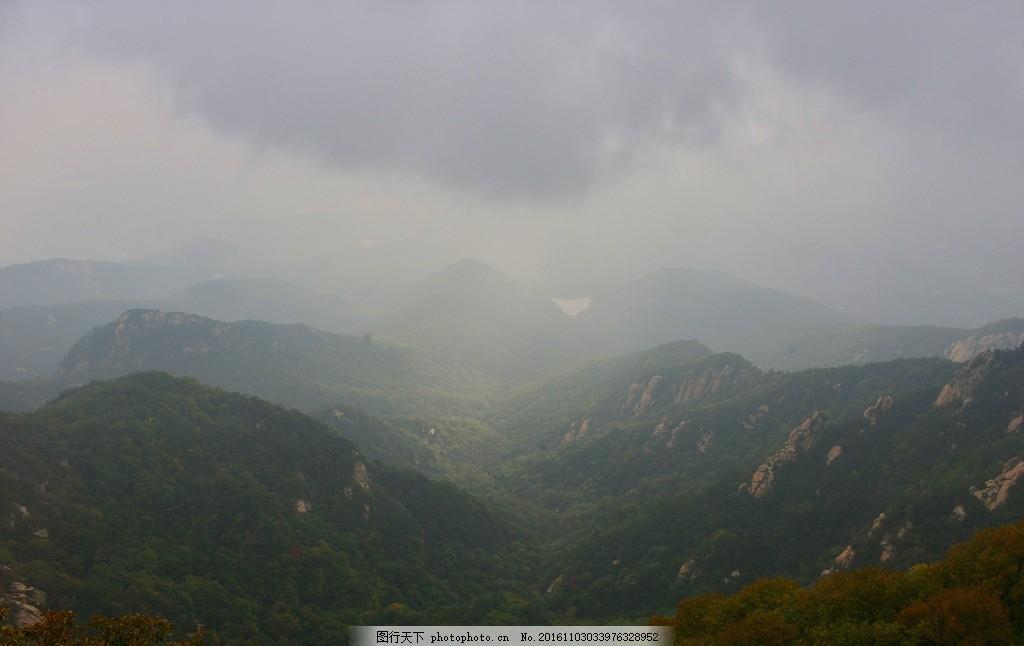 太原蒙山树林风景