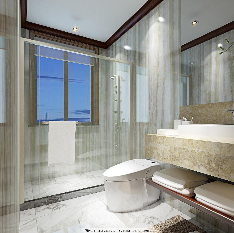 卫生间效果图 设计 环境设计 室内设计 家装 设计 环境设计 室内设计