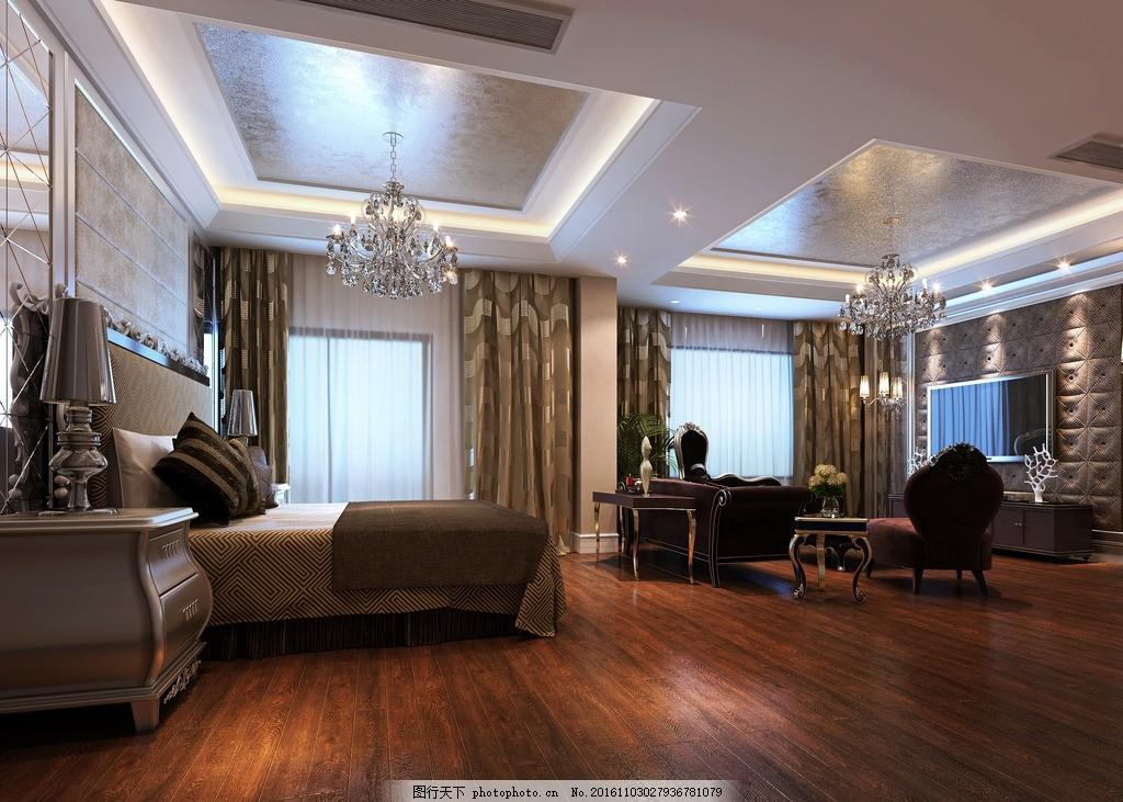 欧式卧室 别墅 家装 套房 效果图 实景图 酒店套房 总统套房