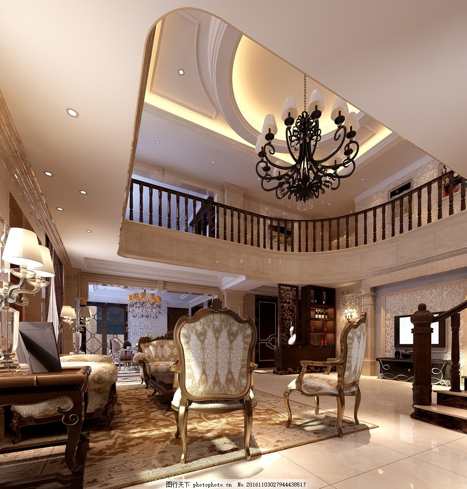 家装 套房      挑高客厅        实景图 3d设计 酒店套房 总统套房
