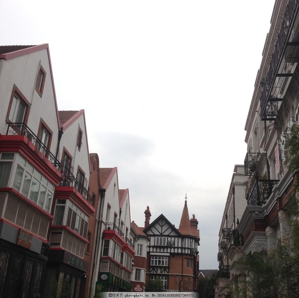 欧式建筑群 泰晤士小镇 上海 欧式风格 商业街 摄影 建筑园林