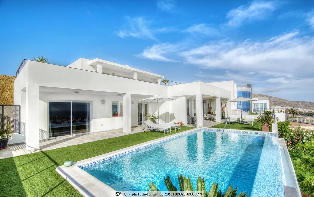别墅 豪宅 游泳池 庄园 庭院 院子 复式 落地窗 阳台 露天