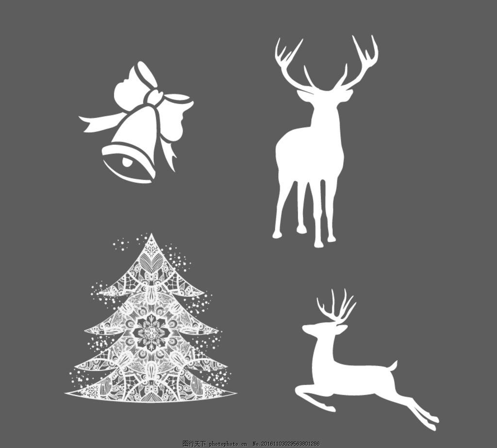 圣诞树 麋鹿 铃铛