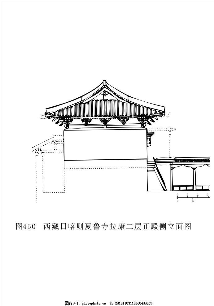 藏族建筑 建筑制图 花纹 黑白装饰画 黑白线描 藏族文化 藏族图案