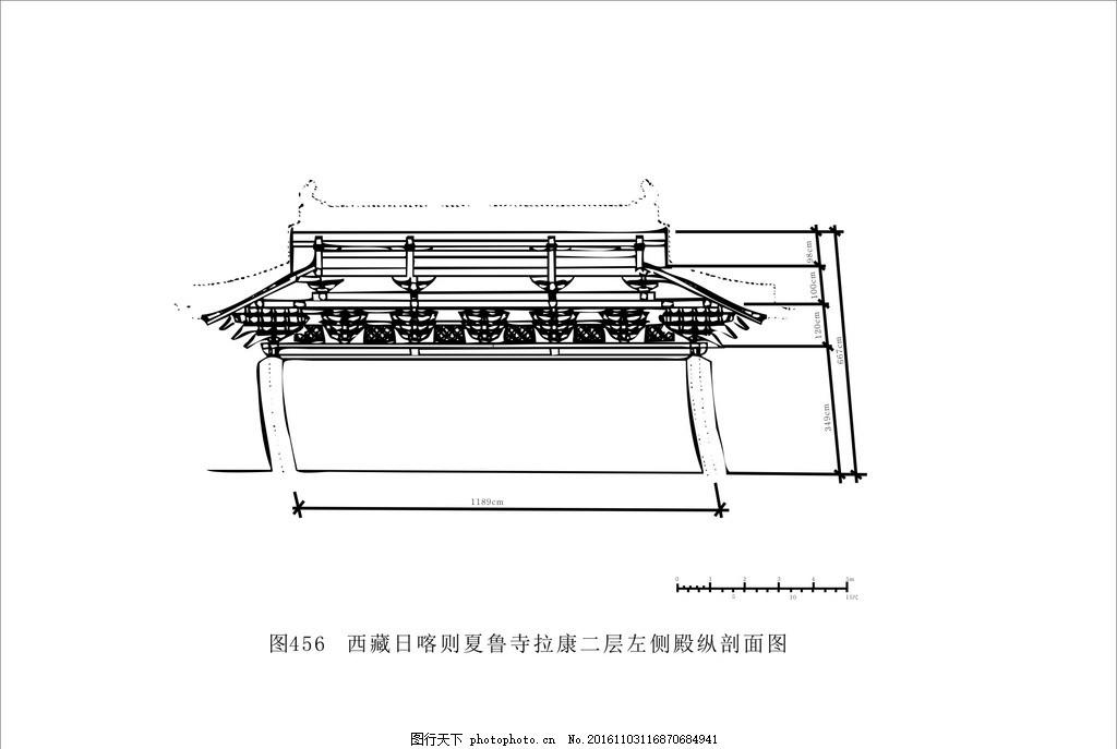 建筑图 建筑制图 花纹 黑白装饰画 黑白线描 藏族文化 藏族图案