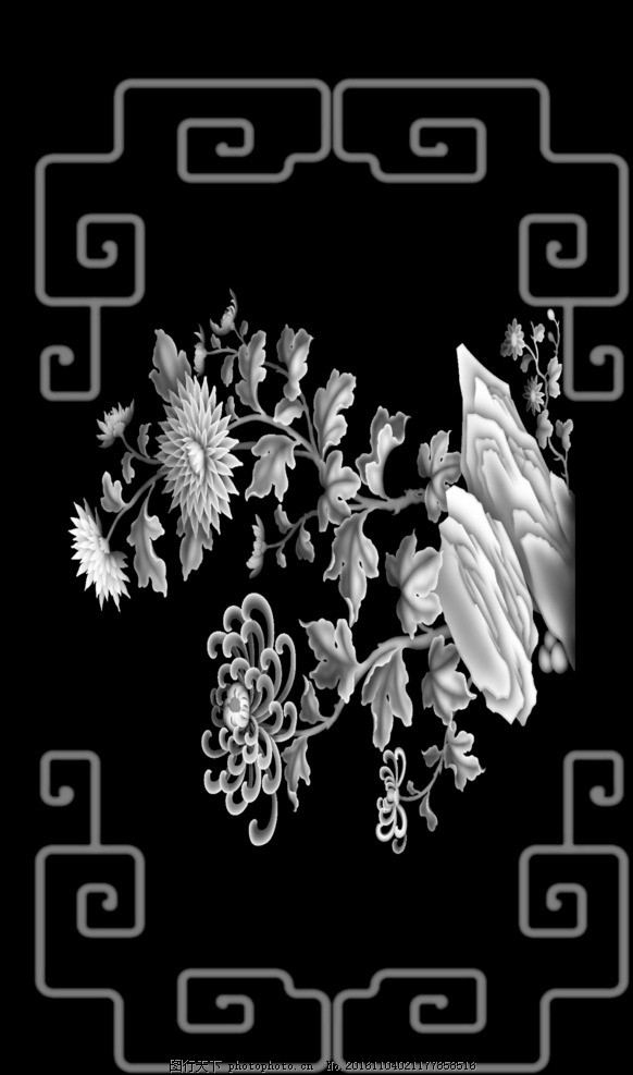 大门贴花 欧式门 花 欧式木门贴花 镜框精雕图 砂岩浮雕图 人物灰度图
