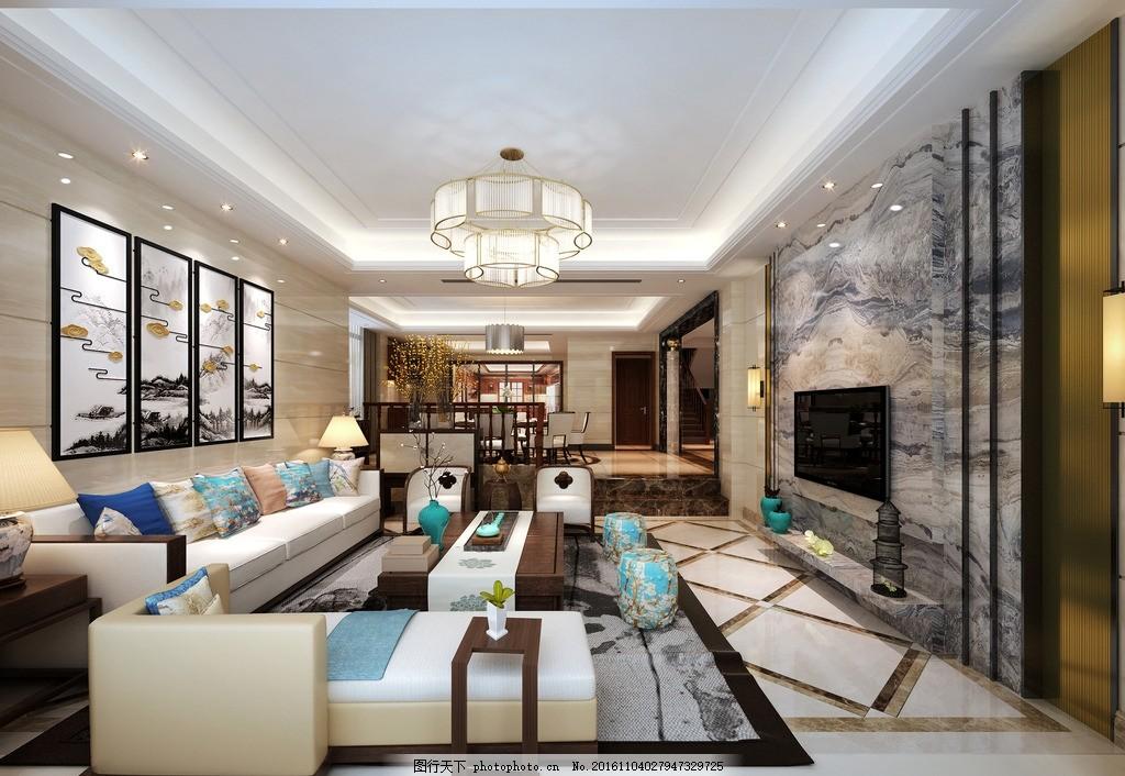 客厅 欧式 别墅 家装 套房 起居室 效果图 实景图 酒店套房