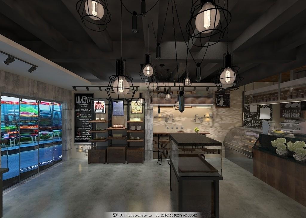 设计图库 环境设计 室内设计  工业风格蛋糕店 工业蛋糕店 个性化设计