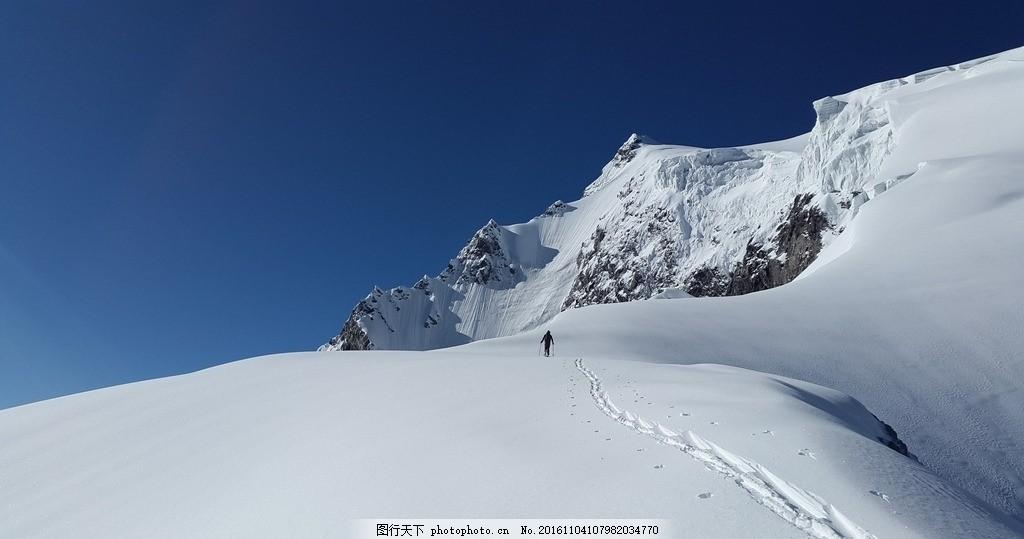 壮丽的雪山风景