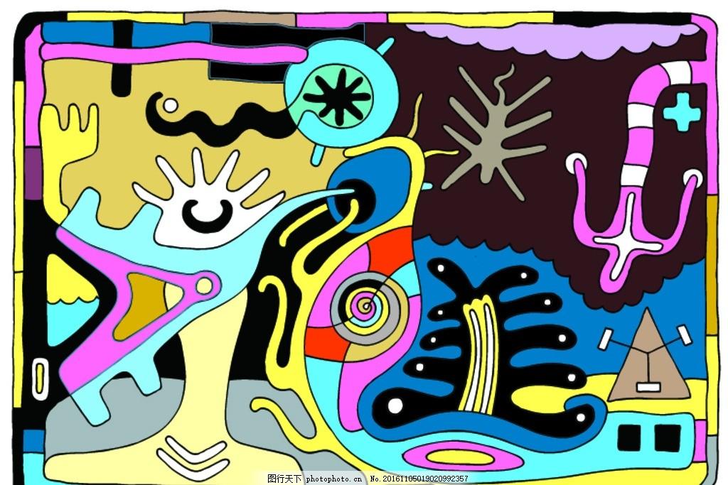 现代抽象人物装饰画
