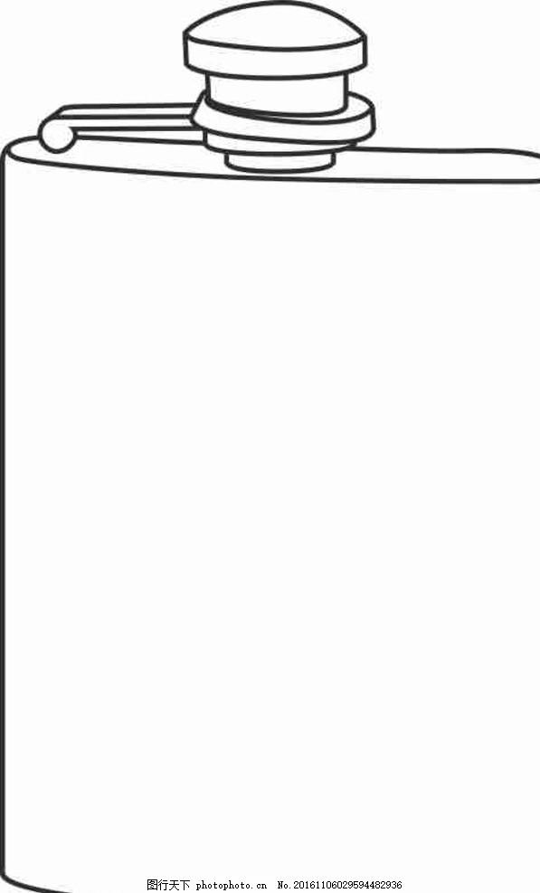 手绘 矢量图 cdr 线条图 素描 雕刻 水彩画 手绘 卡通 动漫 杯子 简笔
