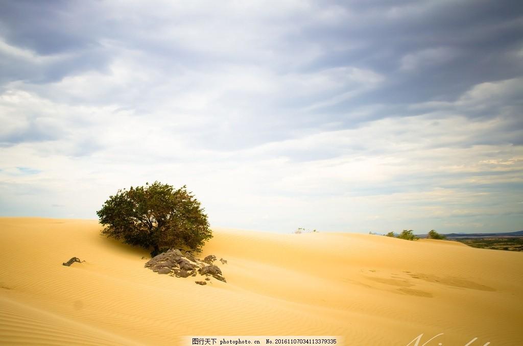 彩铅手绘沙漠