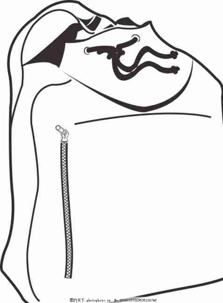 手绘 矢量图 cdr 线条图 素描 雕刻 水彩画 手绘 卡通 动漫 包 书包
