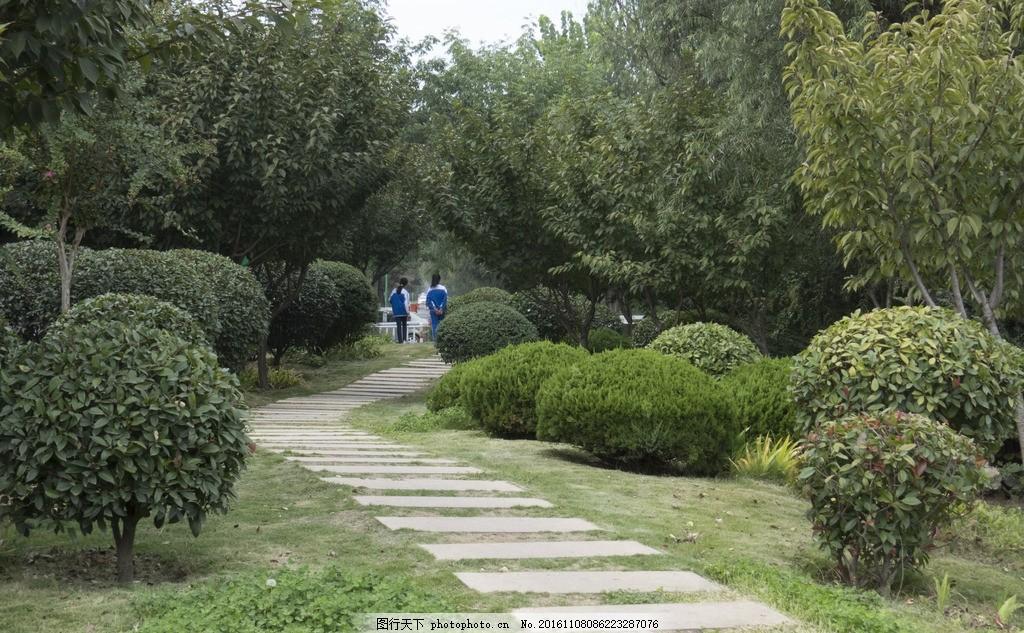 公园小径 城市 台阶 散步 摄影 建筑园林 园林建筑