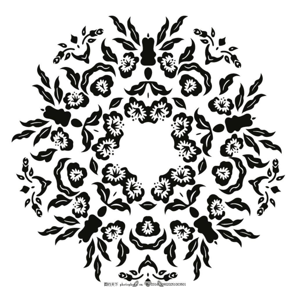 天花 吊顶 圆形 单花 圆形花纹 圆形天花 免转移膜不干胶刻图 设计