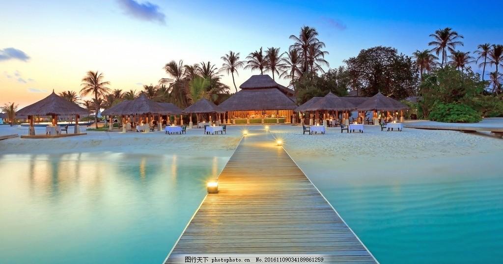 傍晚 壁纸风景 夏威夷 沙滩 海边 悠闲 摄影 摄影 旅游摄影 自然风景