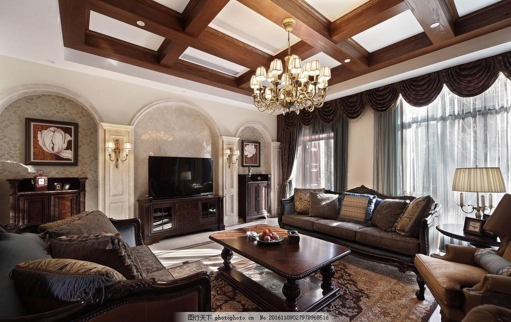 整木家居定制 整体实木家装 原木整体家居 全屋定制家居 欧式客厅装饰