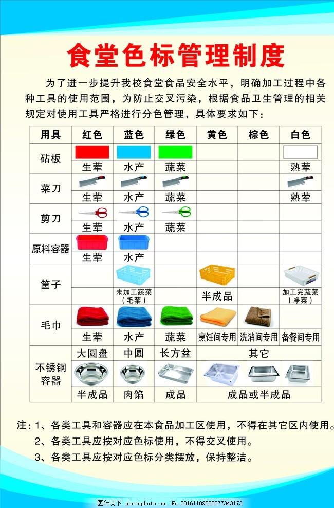 食堂标�zi$9c�y���c%_食堂色标管理制度
