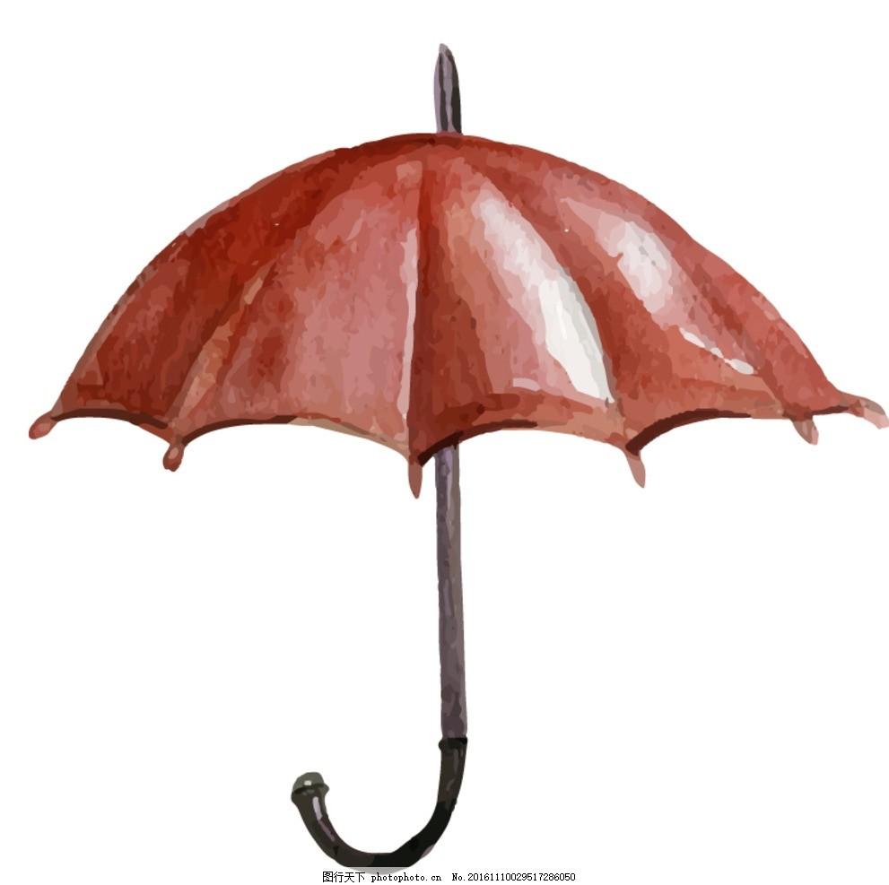 雨伞矢量素材 矢量图 手绘素材 卡通素材