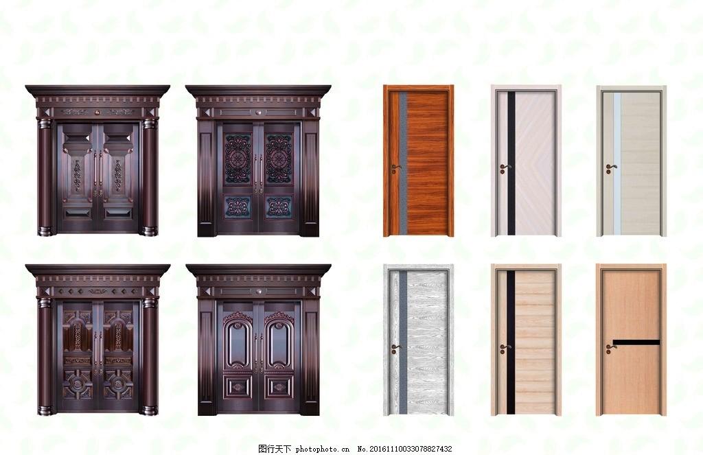 铜门木门 高档别墅门 高级铜门 室内门 强化木门 非标门 门业 设计