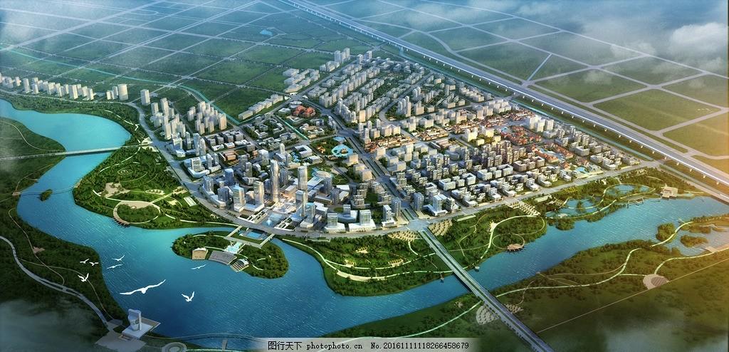 鸟瞰图 美丽 绿色 富强 科技      风景 设计 自然景观 自然风光 72dp