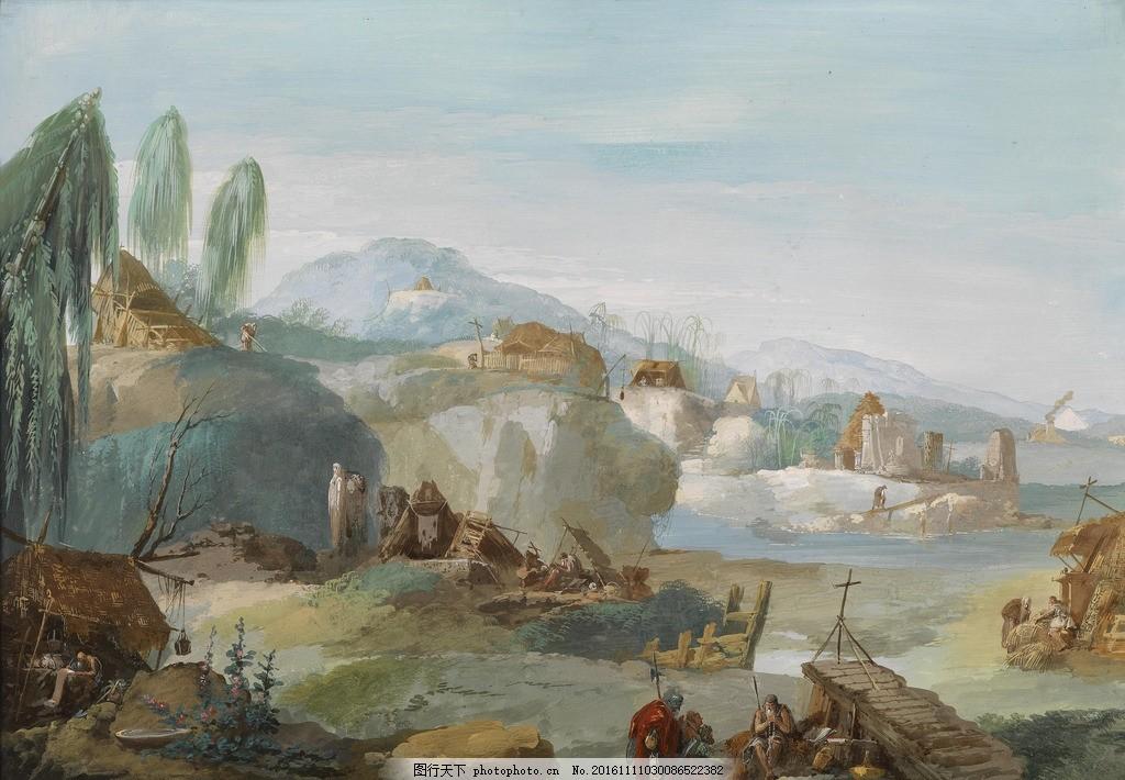 欧式风景油画 欧式油画 油画风景 田园风景 田园油画 风景油画 欧美风