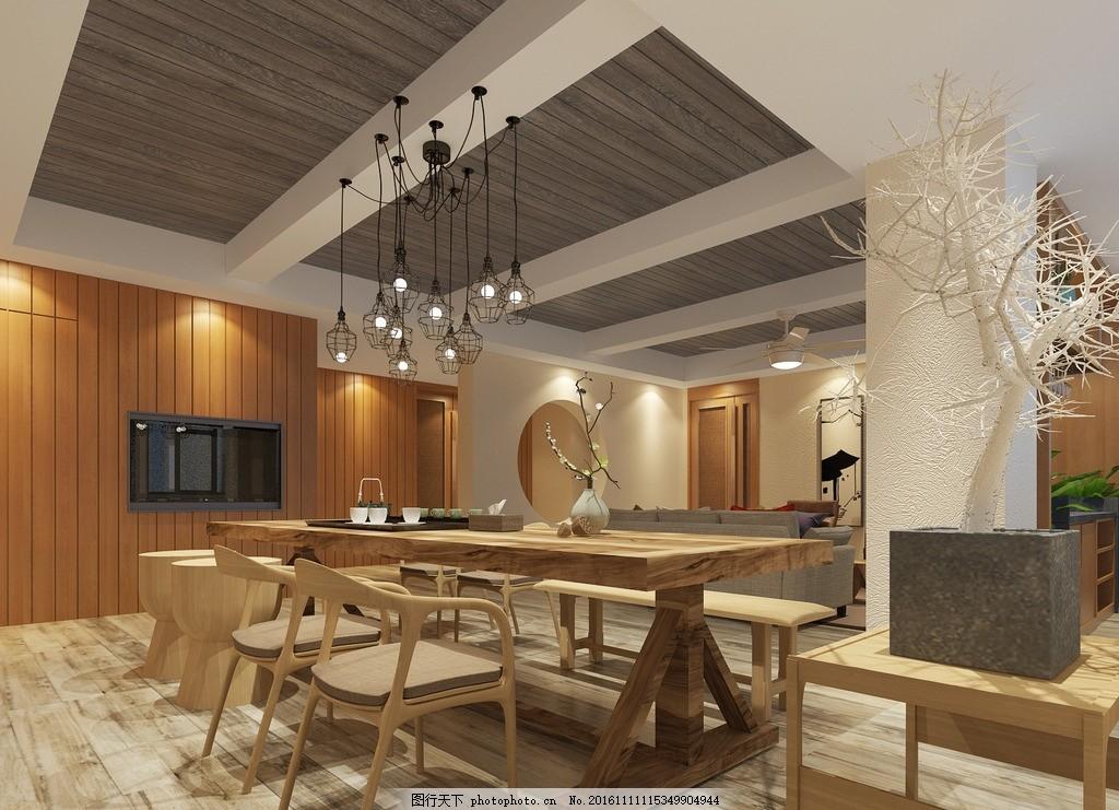 新中式 茶室 会所 休闲办公室 天花散花吊灯 设计 环境设计