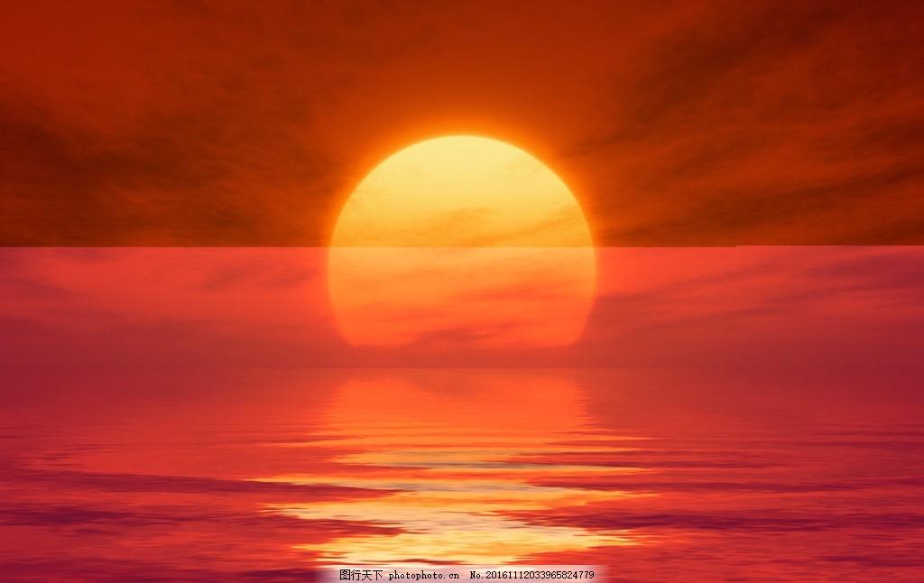 唯美 风景 风光 旅行 自然 秦皇岛 大海 海 海景 海上日出 朝阳 红日
