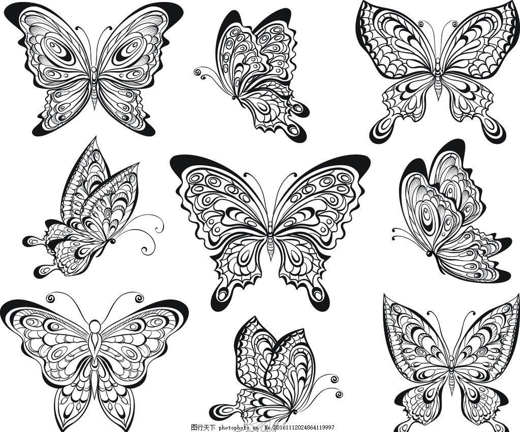 蝴蝶造型卡通画图片
