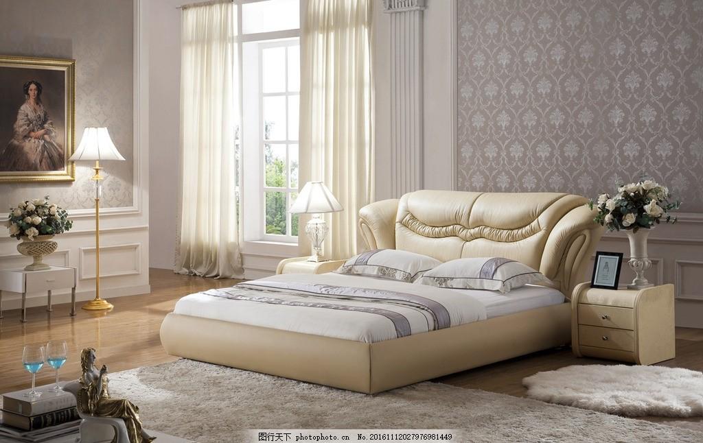卧室效果 墙布 家居 室内软装 窗帘        设计 环境设计 室内设计