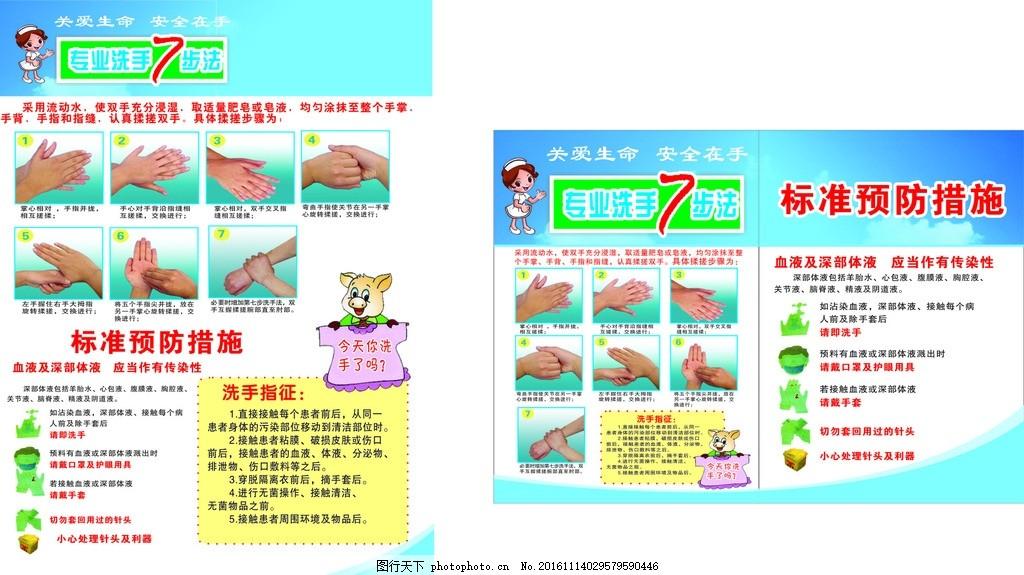 洗手七步法 餐饮洗手法 七步洗手法 洗手方法 食堂广告 餐饮宣传 卫生