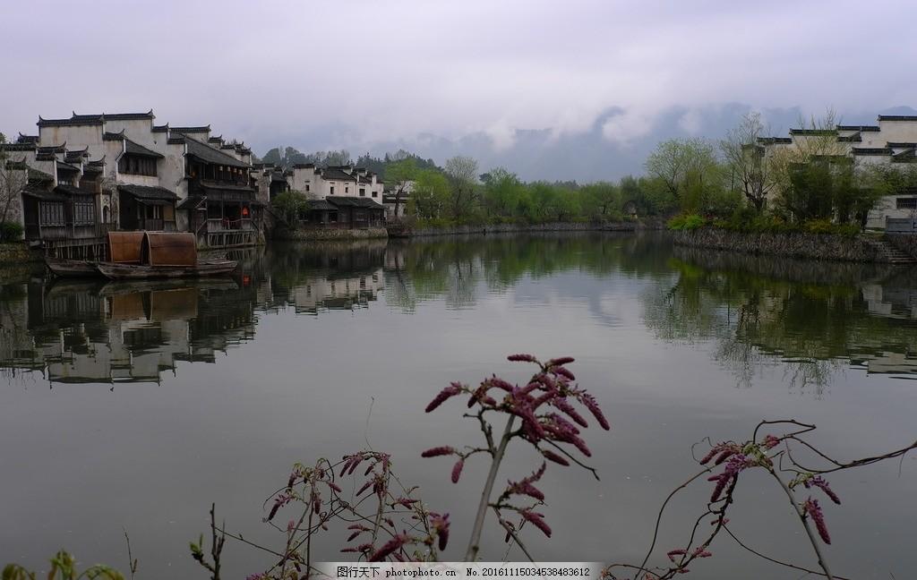 徽派风光 安徽 风景 荷塘 建筑 花卉 摄影