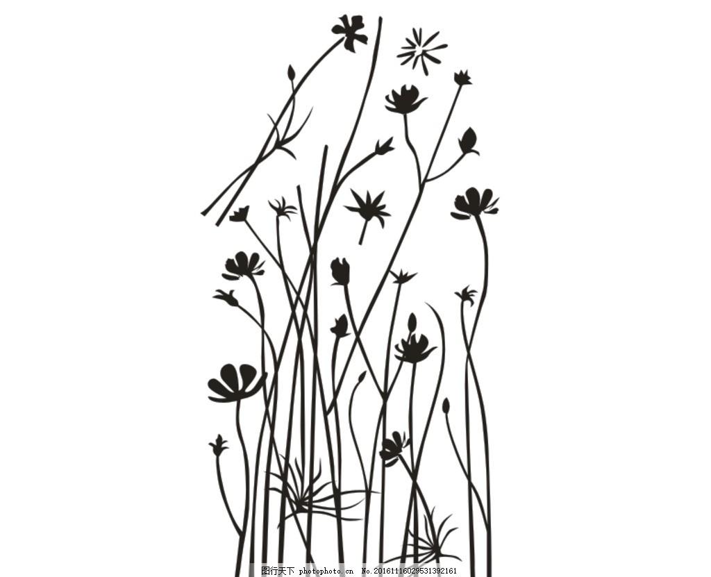 硅藻泥花纹 女儿童房 田园风格 男儿童房 卡通矢量图 硅藻泥矢量图