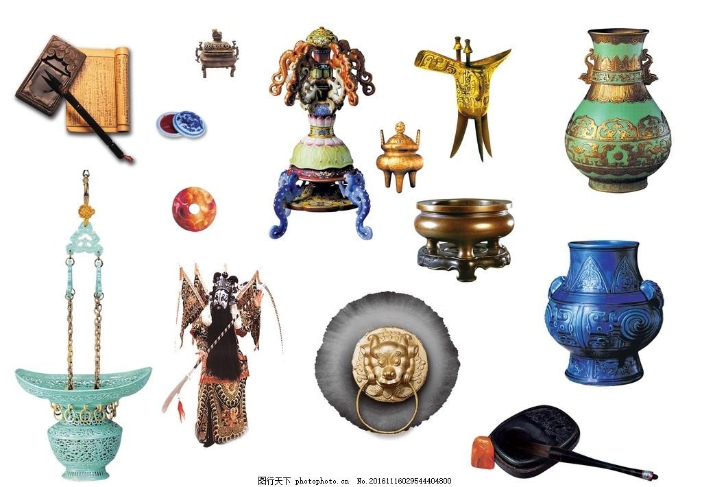 中国风素材 中国风元素 扇子 折扇 中国风扇子 酒樽 古代酒杯