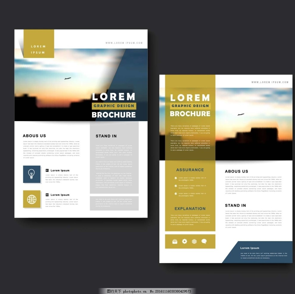 简洁单页排版设计