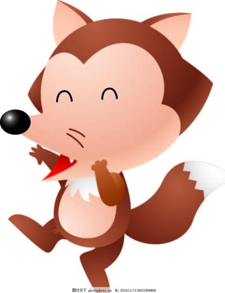 狐狸 创意图案 卡通背景 抽象动物 小鱼 水草 卡通动物 趣味背景 可爱